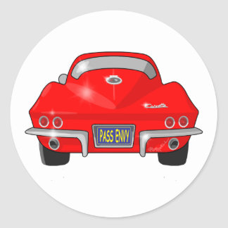1964 Chevrolet Corvette Stingray Round Sticker