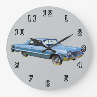 1964 Chevrolet Impala Antique Classic Car Large Clock