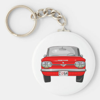 1964 Corvair Front View Basic Round Button Keychain