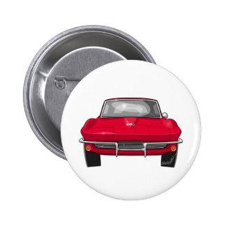 1964 Corvette Stingray Front 2 Inch Round Button