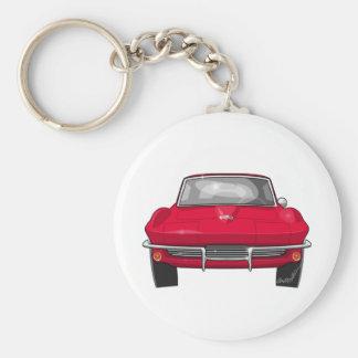 1964 Corvette Stingray Front Basic Round Button Keychain