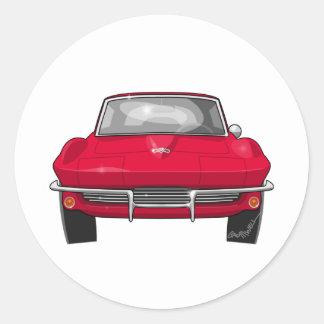1964 Corvette Stingray Front Round Sticker
