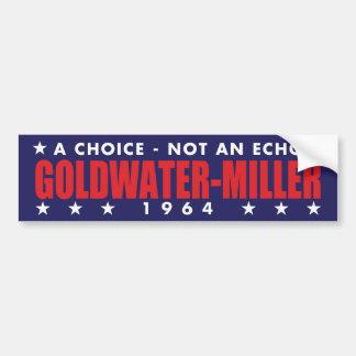 1964 Goldwater Miller Vintage Bumper Sticker
