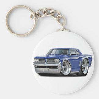 1964 GTO Dk Blue Car Basic Round Button Keychain