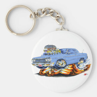 1964 Impala Light Blue Car Basic Round Button Keychain