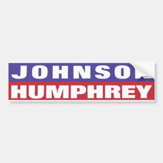 1964 Johnson Humphrey Bumper Sticker