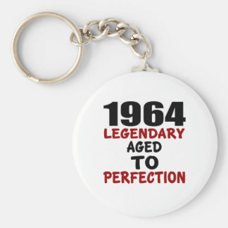1964 LEGENDARY AGED TO PERFECTION BASIC ROUND BUTTON KEYCHAIN