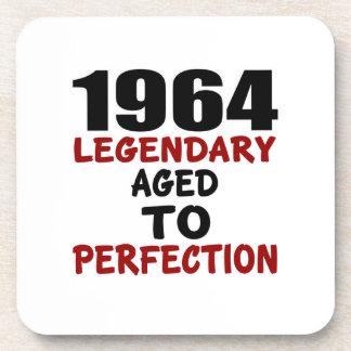 1964 LEGENDARY AGED TO PERFECTION DRINK COASTER