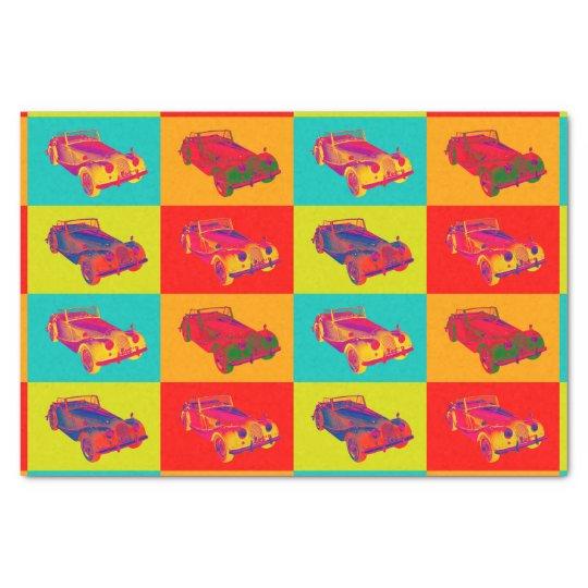 1964 Morgan Plus 4 Convertible Pop Art Tissue Paper