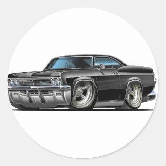 1965-66 Impala Black Car Classic Round Sticker