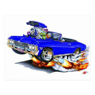 1965-66 Impala Blue Convertible Postcard