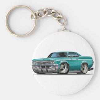 1965-66 Impala Teal Car Basic Round Button Keychain