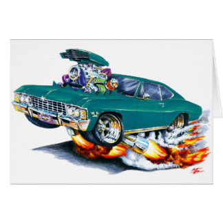 1965-66 Impala Teal Car Card