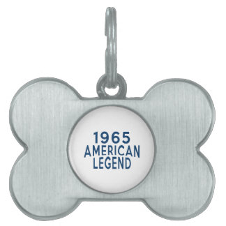 1965 American Legend Birthday Designs Pet Name Tags