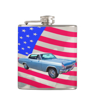 1965 Chevy Impala 327 With American Flag Flasks
