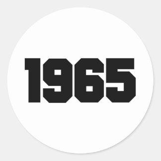 1965 CLASSIC ROUND STICKER