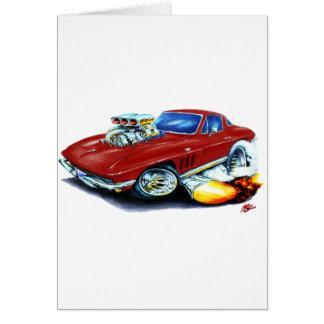 1965 Corvette Maroon Car Card
