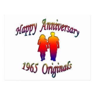 1965 couples carte postale