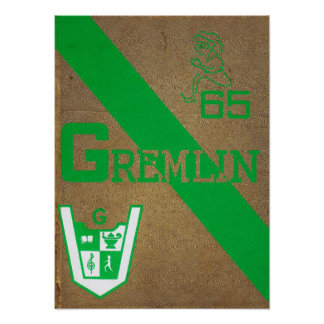 1965 Graydon Gremlin Yearbook Poster
