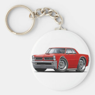 1965 GTO Red Car Keychain