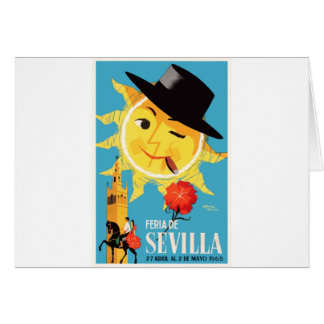 1965 Seville Spain April Fair Poster Card
