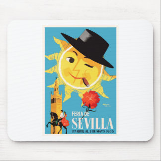 1965 Seville Spain April Fair Poster Mouse Pad