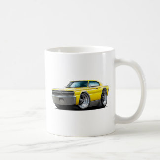 1966-67 Charger Yellow Car Coffee Mug