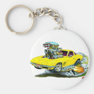 1966-67 Corvette Yellow Car Keychain
