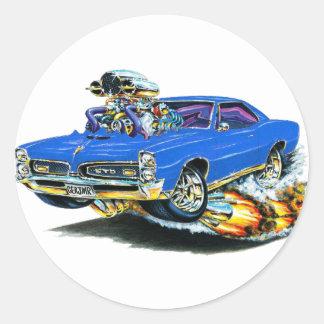 1966-67 GTO Blue Car Classic Round Sticker