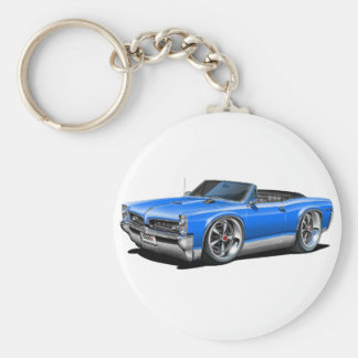 1966/67 GTO Blue Convertible Basic Round Button Keychain
