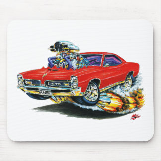 1966-67 GTO Red Car Mouse Pad