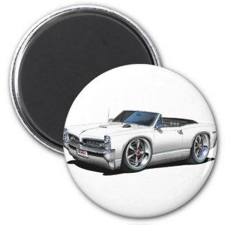1966/67 GTO White Convertible Magnet