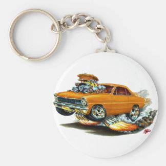 1966-67 Nova Orange Car Basic Round Button Keychain