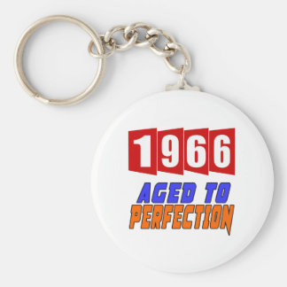 1966 Aged To Perfection Basic Round Button Keychain