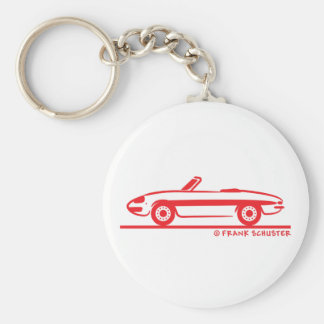 1966 Alfa Romeo Duetto Spider Veloce Basic Round Button Keychain
