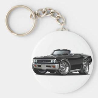1966 Chevelle Black Convertible Keychain
