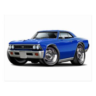 1966 Chevelle Blue Car Postcard