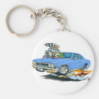 1966 Chevelle Light Blue Car Keychain