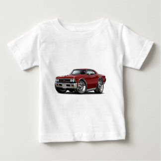 1966 Chevelle Maroon Car Baby T-Shirt