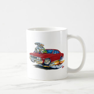1966 Chevelle Maroon Car Coffee Mug