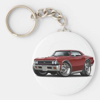 1966 Chevelle Maroon Car Keychain