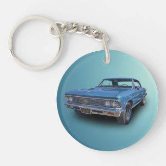 1966 CHEVROLET CHEVELLE SS Single-Sided ROUND ACRYLIC KEYCHAIN