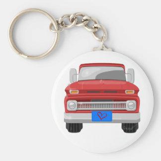 1966 Chevrolet Pickup Basic Round Button Keychain