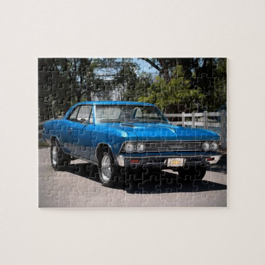1966 Chevy Chevelle Big Block Muscle Car Jigsaw Puzzle