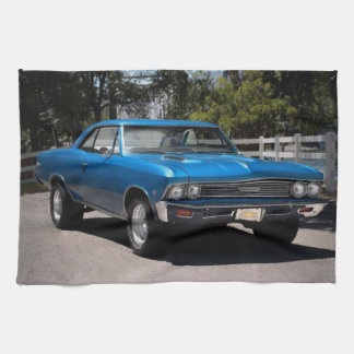 1966 Chevy Chevelle Malibu Chevrolet Muscle Car Kitchen Towel