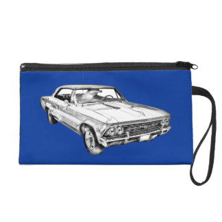 1966 Chevy Chevelle SS 396 Illustration Wristlet Purse