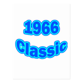 1966 Classic Blue Postcard