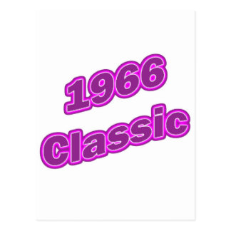 1966 Classic Purple Post Card
