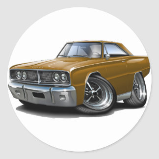 1966 Coronet Brown Car Classic Round Sticker