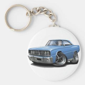 1966 Coronet Lt Blue Car Basic Round Button Keychain
